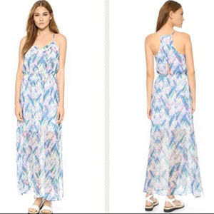 Cupcakes and Cashmere Indio Print Maxi Dress NWOT
